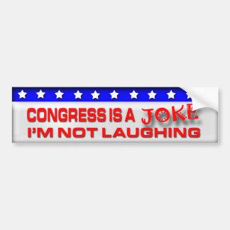 Congress is a Joke Car Bumper Sticker