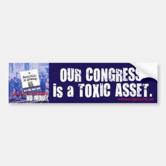 Congress is a Toxic Asset bumper sticker Car Bumper Sticker