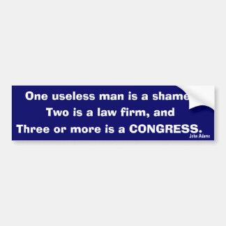 Congress (John Adams) Bumper Sticker