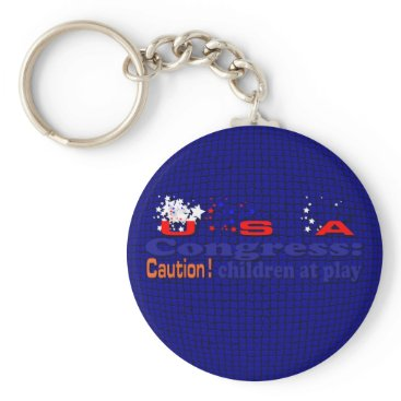 USA Themed Congress Keychain