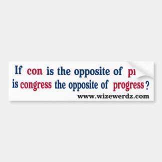 Congress-light-11x3 Bumper Sticker