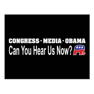 Congress Media Obama Can You Hear Us Now? Postcard