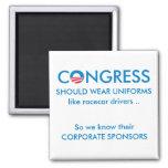 Congress Needs Uniforms 2 Inch Square Magnet