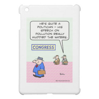 congress pollution muddied waters speech iPad mini cover
