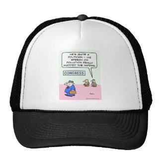 congress pollution muddied waters speech trucker hat