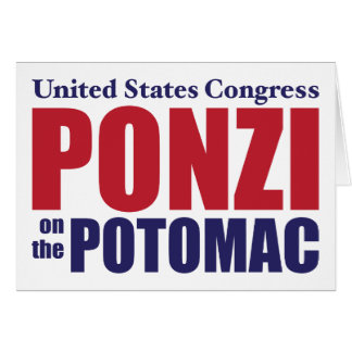Congress Ponzi on the Potomac Cards