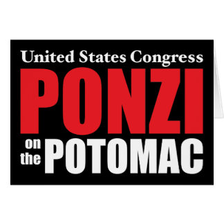 Congress Ponzi on the Potomac Greeting Card