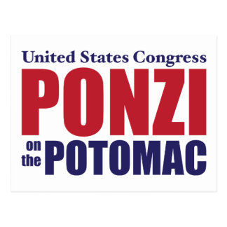 Congress: Ponzi on the Potomac Postcard