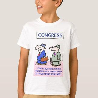 congress problems throw money wife T-Shirt