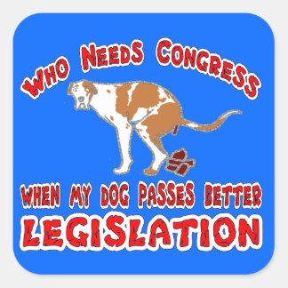 Congress Sticker. Square Sticker