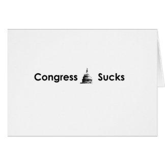 Congress Sucks Greeting Card