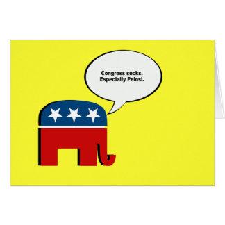 Congress sucks. Especially Pelosi Greeting Card