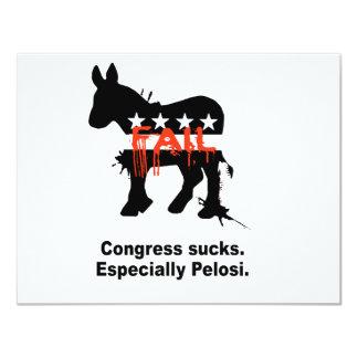 Congress sucks. Especially Pelosi 4.25x5.5 Paper Invitation Card