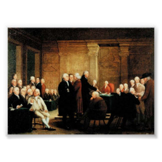 Congress Voting on Declaration of Independence Posters