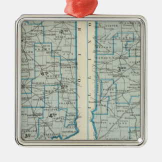 Congressional districts Judicial districts Indiana Christmas Tree Ornaments