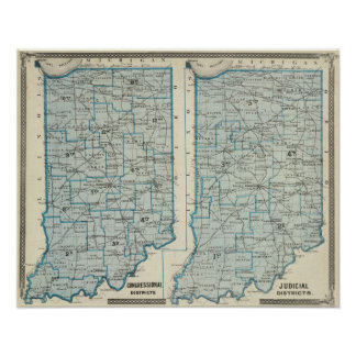 Congressional districts Judicial districts Indiana Print