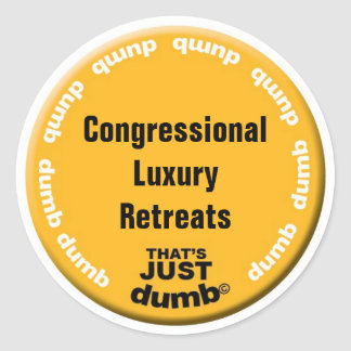 Congressional Luxury Retreats Classic Round Sticker