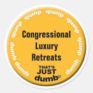 Congressional Luxury Retreats Round Stickers