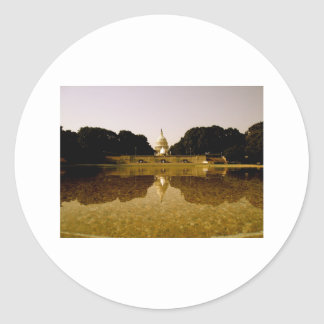 Congressional reflections classic round sticker