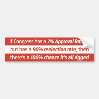 Congressional Rigging Bumper Sticker