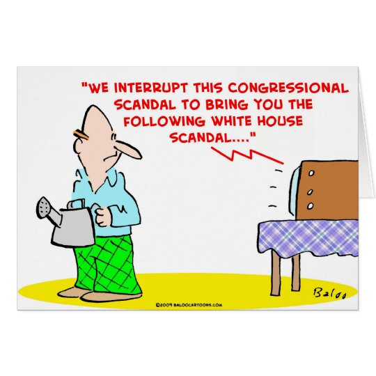 congressional white house scandal card