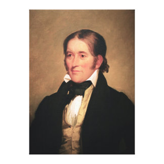 Congressman Davy Crockett by Chester Harding Canvas Print