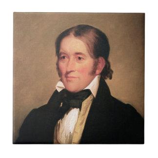 Congressman Davy Crockett by Chester Harding Ceramic Tiles
