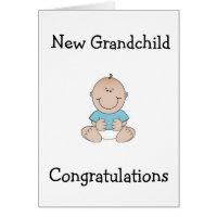 "CONGRTULATIONS ""GRANDPARENTS"" ON NEW GRANDCHILD CARD"
