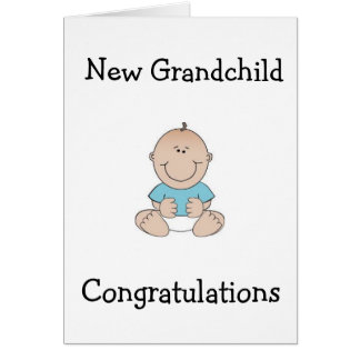"CONGRTULATIONS ""GRANDPARENTS"" ON NEW GRANDCHILD CARD"