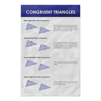 Congruent Triangles - Math Poster