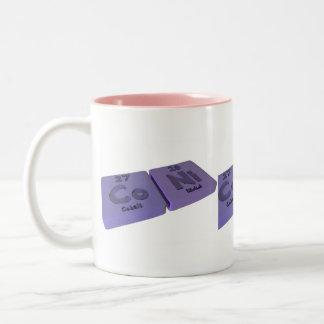 Coni as Co Cobalt and Ni Nickle Two-Tone Coffee Mug
