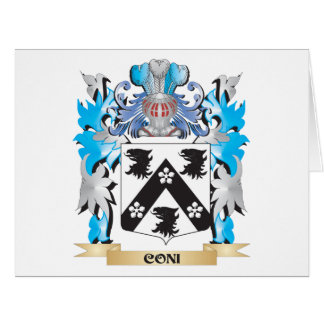 Coni Coat of Arms - Family Crest Card