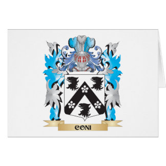 Coni Coat of Arms - Family Crest Greeting Cards