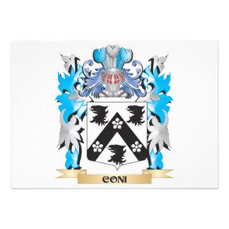 Coni Coat of Arms - Family Crest Custom Invite