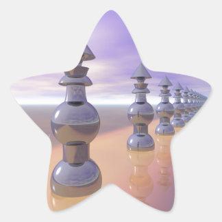 Conical Geometric Progression Star Sticker