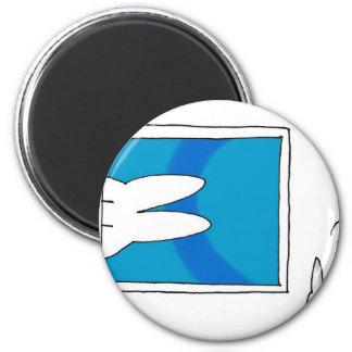 Coniglietto hilly strange art 2 inch round magnet