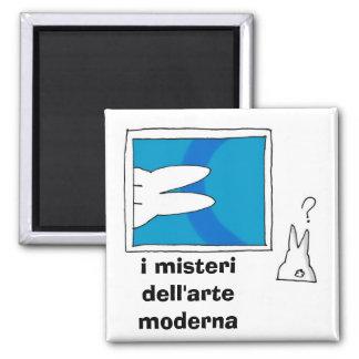Coniglietto illy, i misteri dell'arte moderna refrigerator magnet