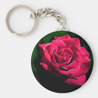 Coningsby rose key ring basic round button keychain
