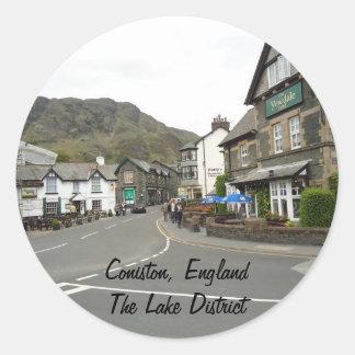 Coniston, England Classic Round Sticker