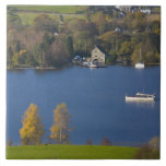 Coniston Water, Lake District, Cumbria, England Large Square Tile