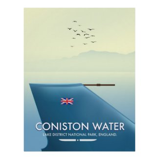 Coniston Water, lake district, England Poster