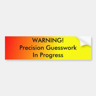 Conjetura de la precisión pegatina de parachoque