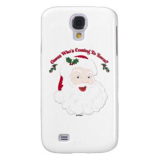 ¿Conjetura de Santa del vintage quién está viniend Funda Para Galaxy S4