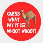 Conjetura del camello del día de chepa qué día es pegatina redonda
