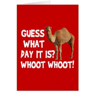 Conjetura del camello del día de chepa qué día es tarjeta de felicitación