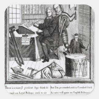 Conjetura en mi significado, 1709 pegatina cuadrada