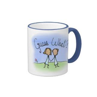 Conjetura lesbiana linda de los pares qué tazas de café