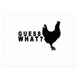 Conjetura qué camiseta .png del extremo del pollo tarjetas postales