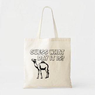 ¿Conjetura qué día es? Camello del día de chepa Bolsa Tela Barata