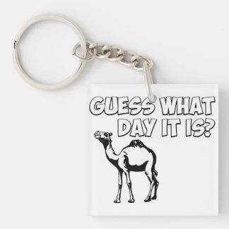 ¿Conjetura qué día es? Camello del día de chepa Llaveros